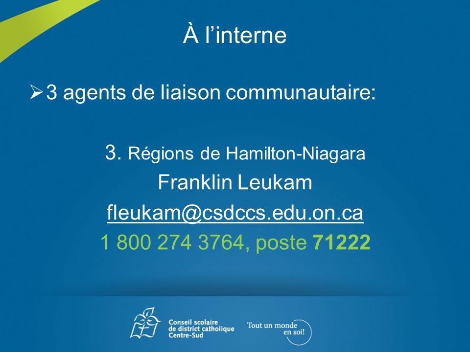 3. Régions de Hamilton-Niagara