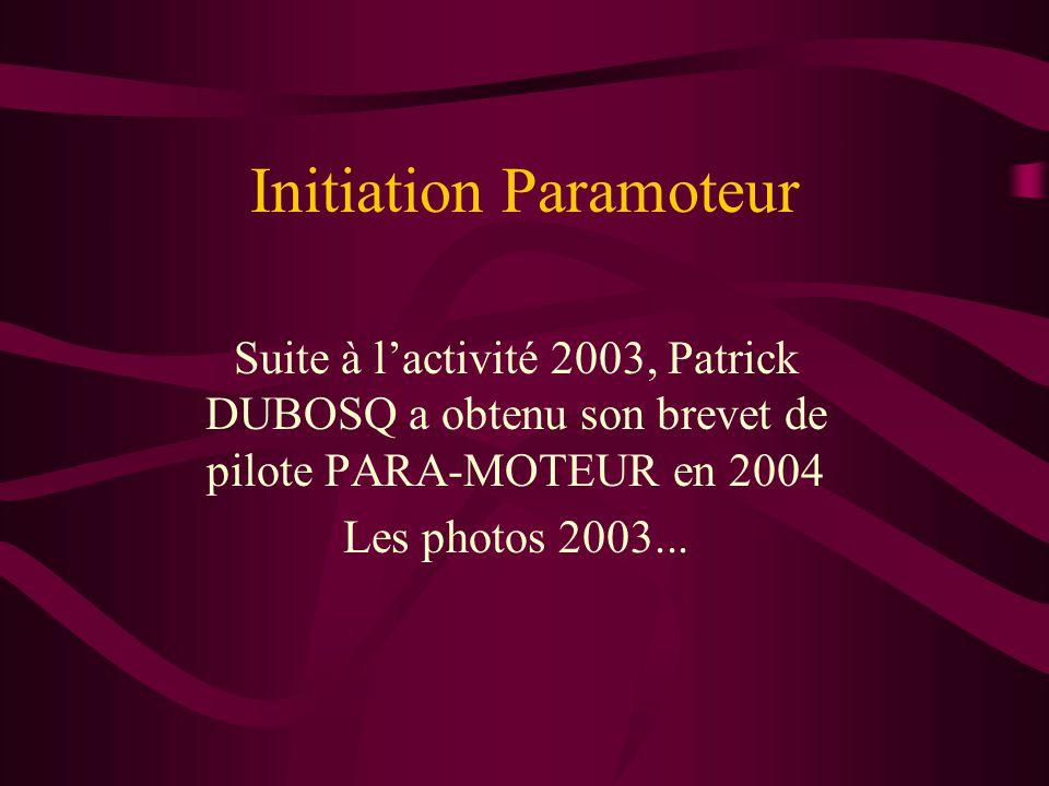 Initiation Paramoteur