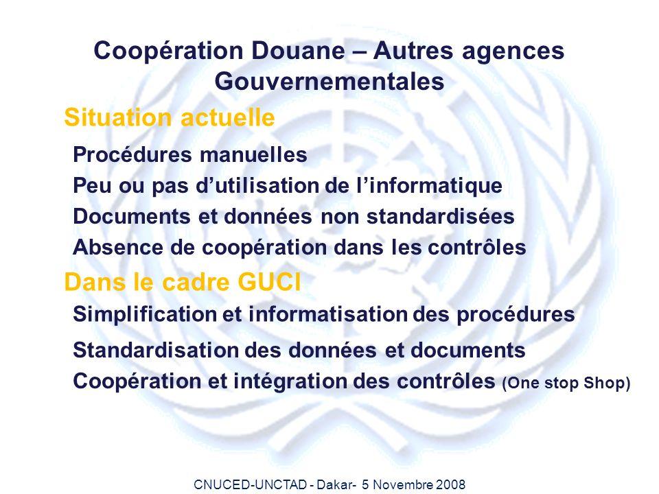 Coopération Douane – Autres agences Gouvernementales