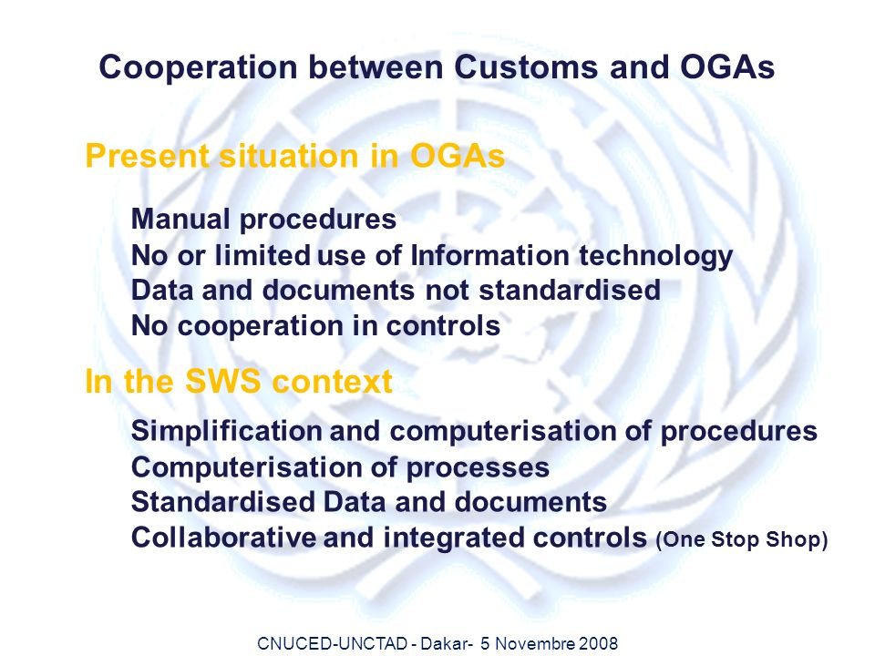 Cooperation between Customs and OGAs