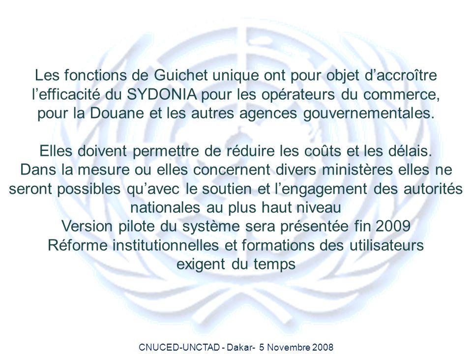 pour la Douane et les autres agences gouvernementales.