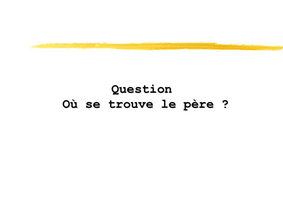 Question Où se trouve le père