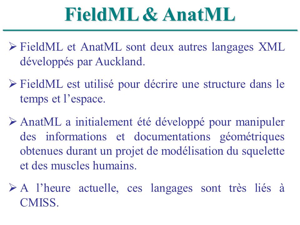 ______________________________ FieldML & AnatML