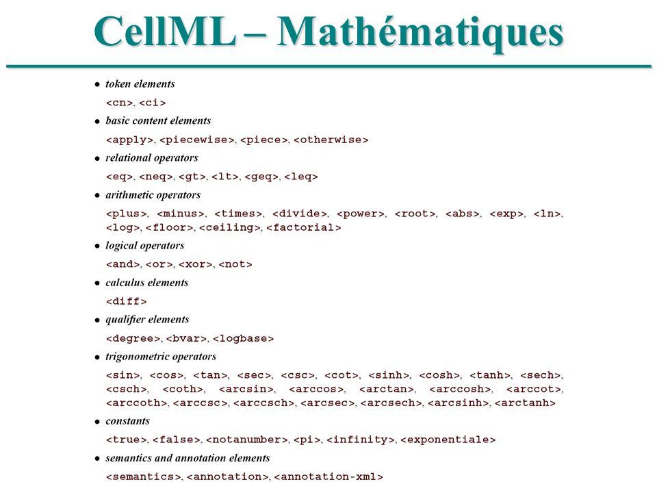 CellML – Mathématiques