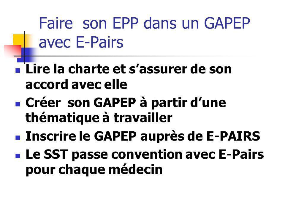 Faire son EPP dans un GAPEP avec E-Pairs