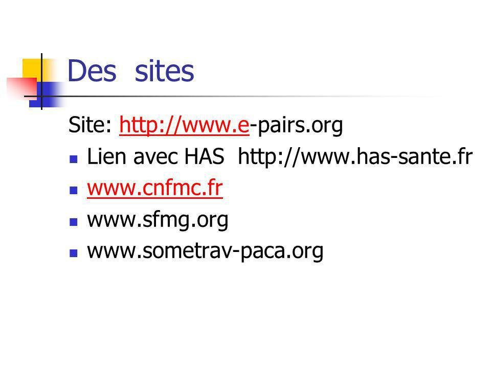 Des sites Site: http://www.e-pairs.org