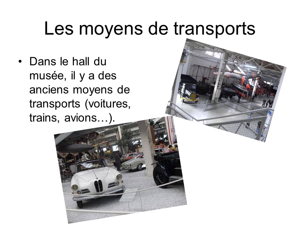 Les moyens de transports