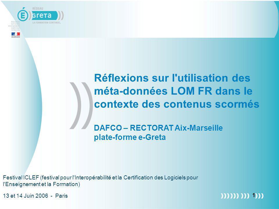 DAFCO – RECTORAT Aix-Marseille plate-forme e-Greta