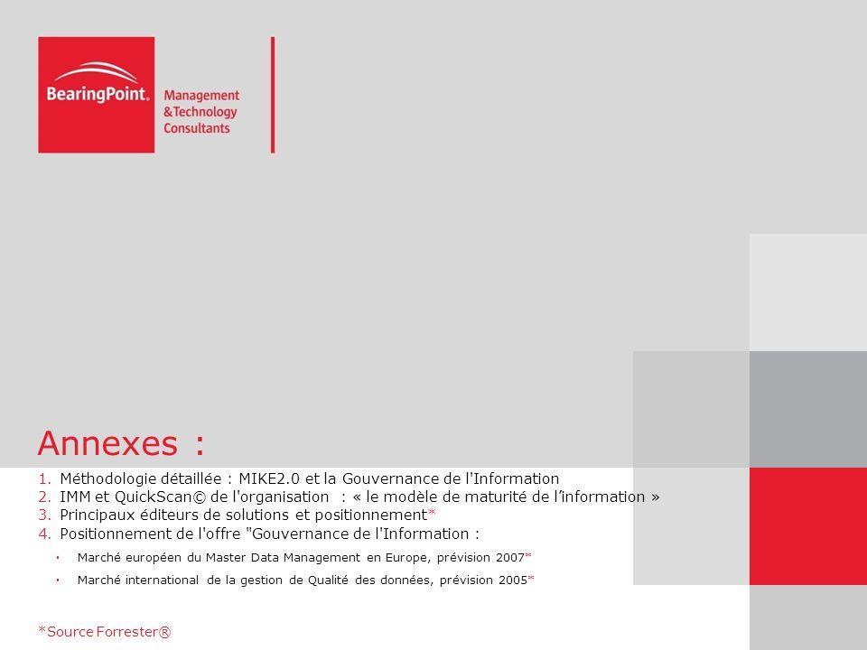 Annexes : Méthodologie détaillée : MIKE2.0 et la Gouvernance de l Information.