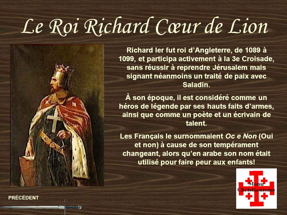 Le Roi Richard Cœur de Lion