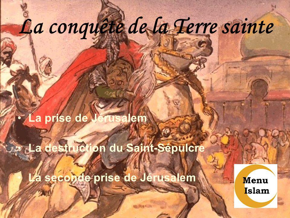 La conquête de la Terre sainte