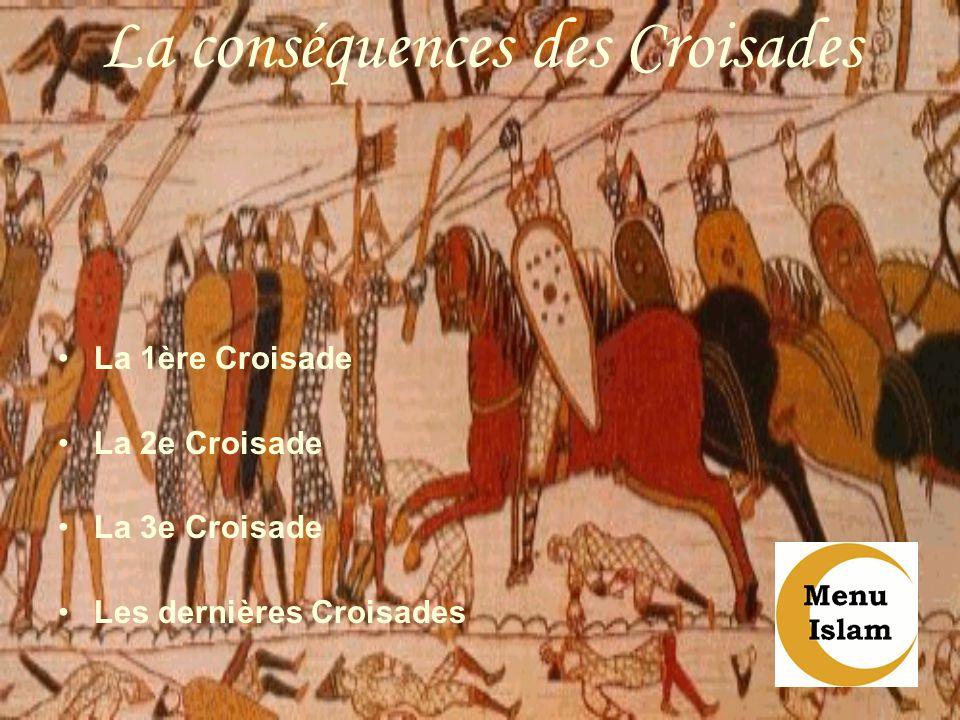 La conséquences des Croisades