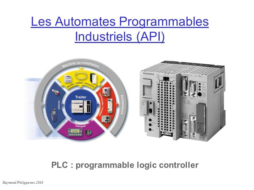 Les Automates Programmables Industriels (API)