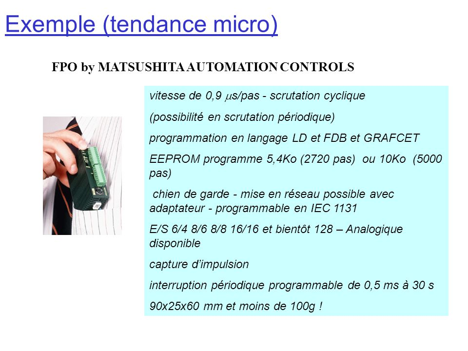 Exemple (tendance micro)