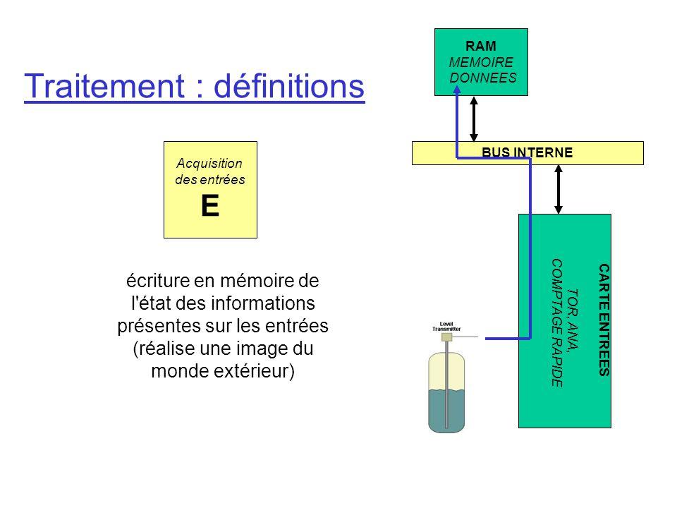Traitement : définitions