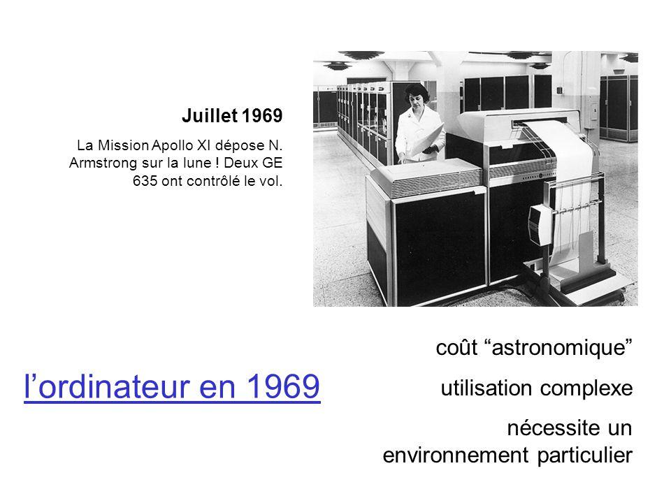 l'ordinateur en 1969 coût astronomique utilisation complexe