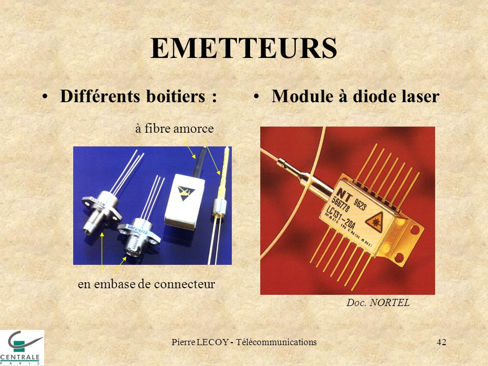 EMETTEURS Différents boitiers : Module à diode laser à fibre amorce
