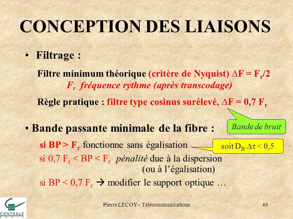 CONCEPTION DES LIAISONS