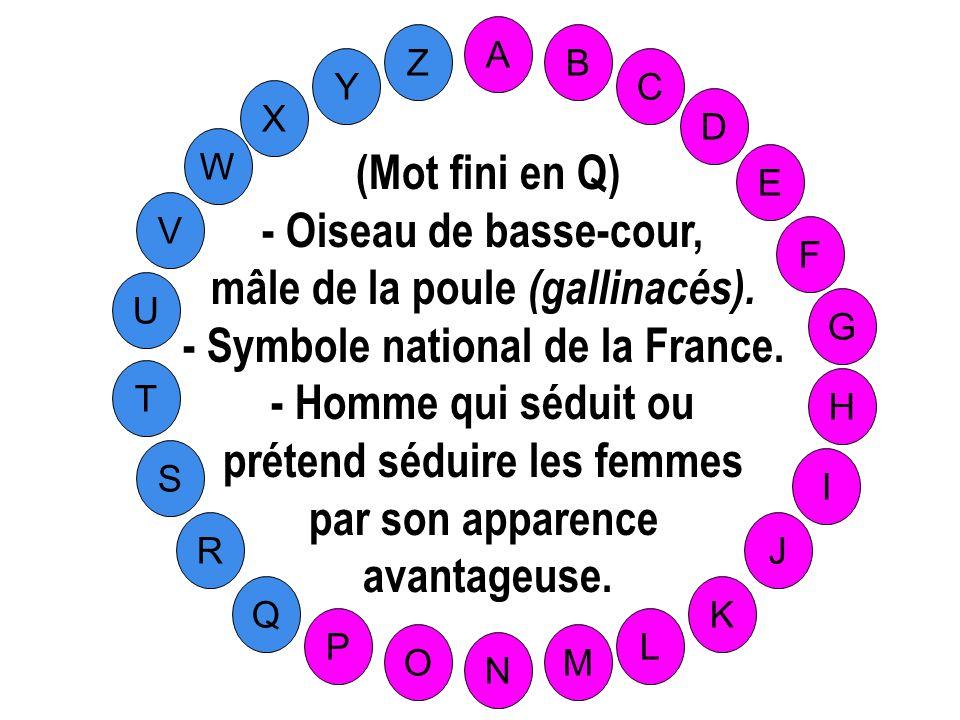 mâle de la poule (gallinacés). - Symbole national de la France.