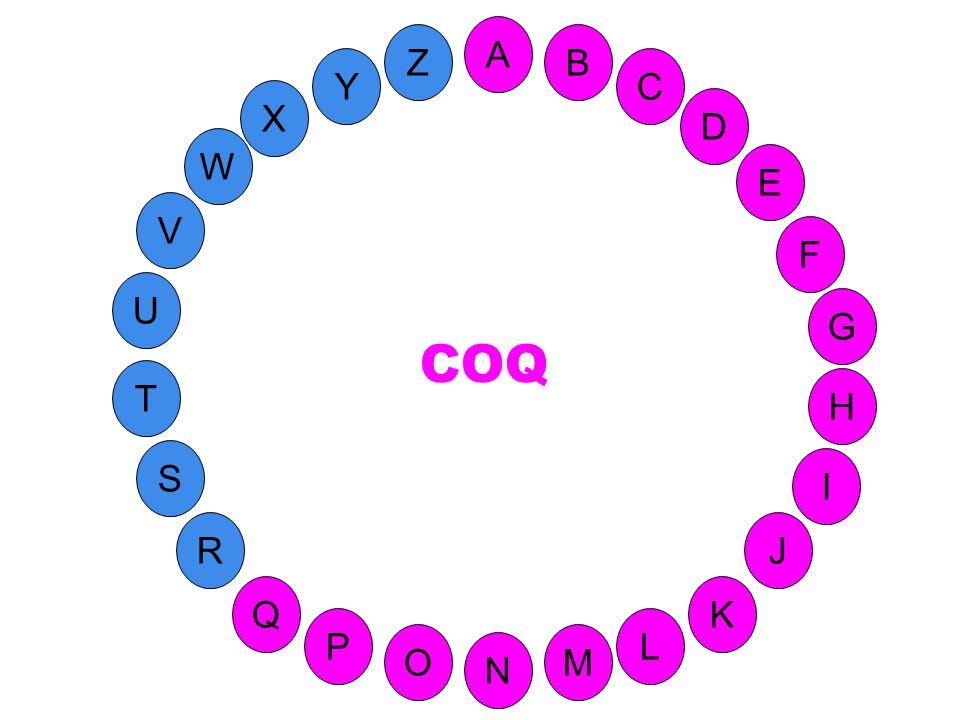 A Z B Y C X D W E V F COQ U G T H S I 35-Q réponse R J Q K P L O M N