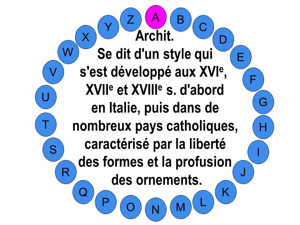 s est développé aux XVIe, XVIIe et XVIIIe s. d abord