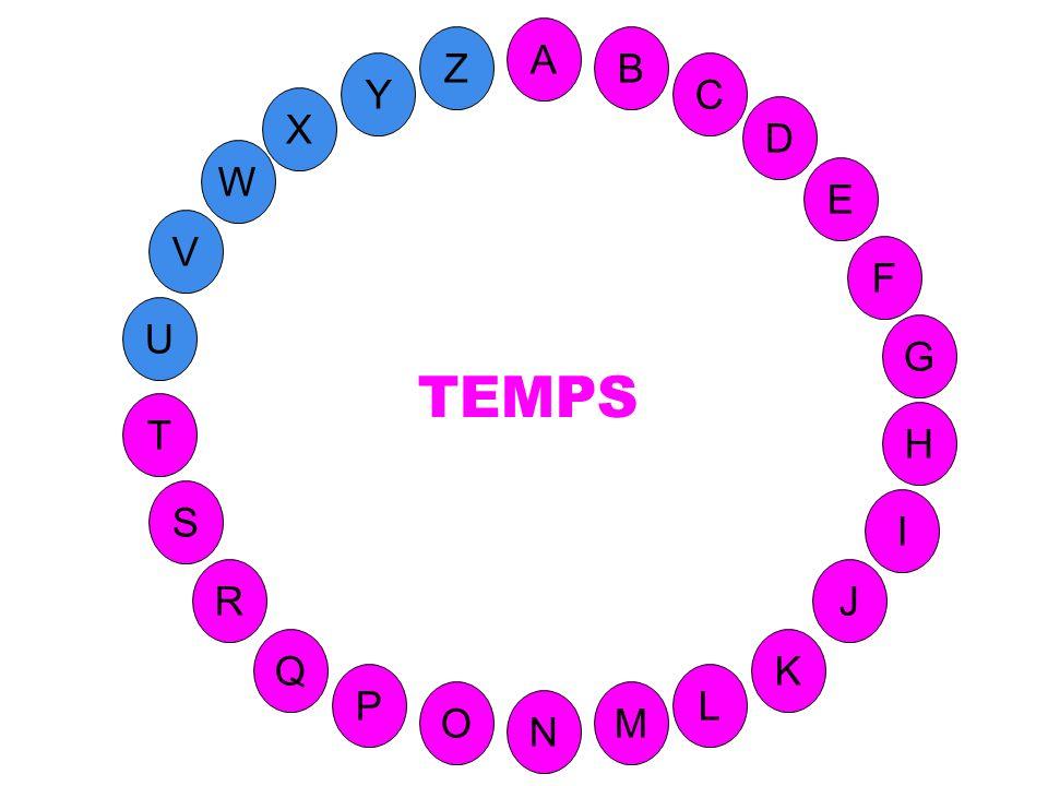 A Z B Y C X D W E V F TEMPS U G T H S I 41-T réponse R J Q K P L O M N