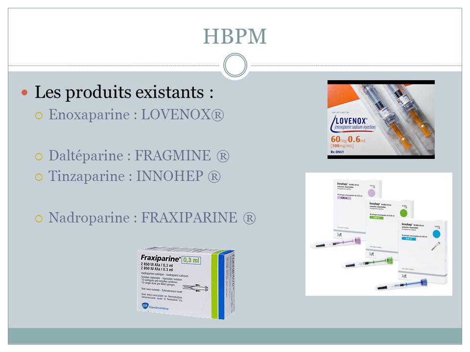 HBPM Les produits existants : Enoxaparine : LOVENOX®