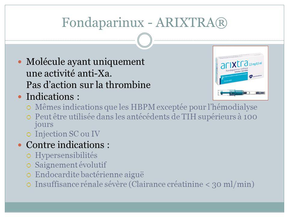 Fondaparinux - ARIXTRA®
