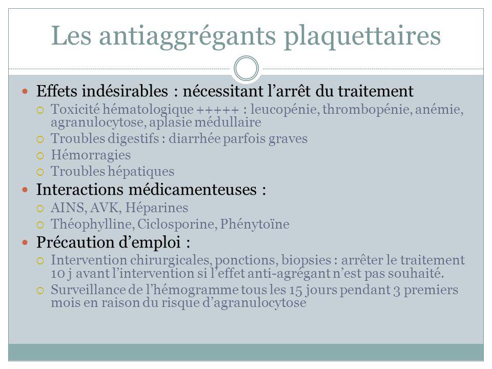 Les antiaggrégants plaquettaires