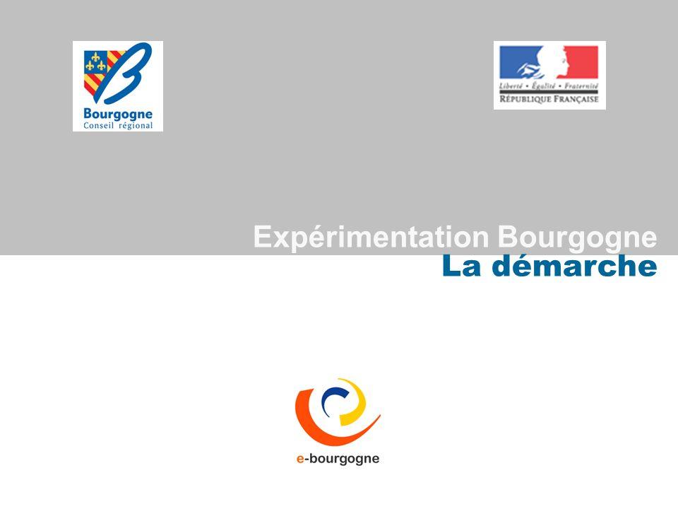Expérimentation Bourgogne La démarche