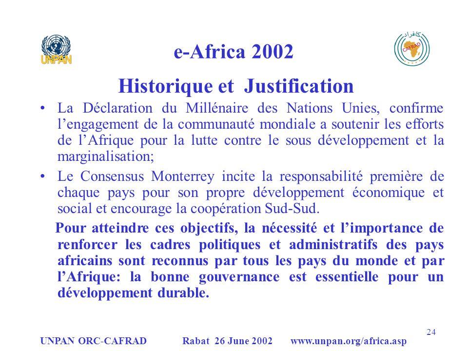 Historique et Justification