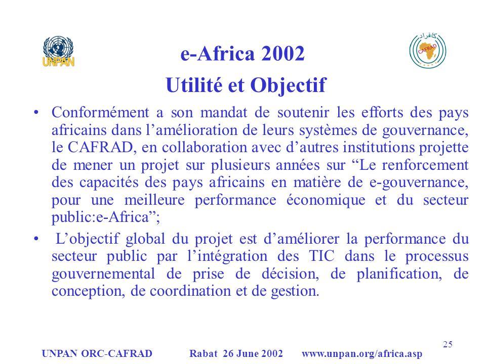 e-Africa 2002 Utilité et Objectif