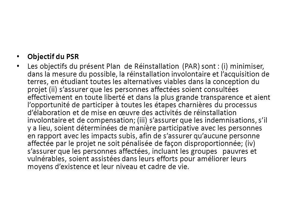 Objectif du PSR