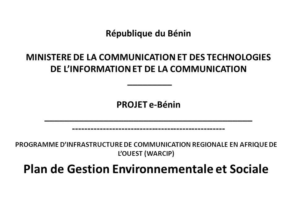 Plan de Gestion Environnementale et Sociale