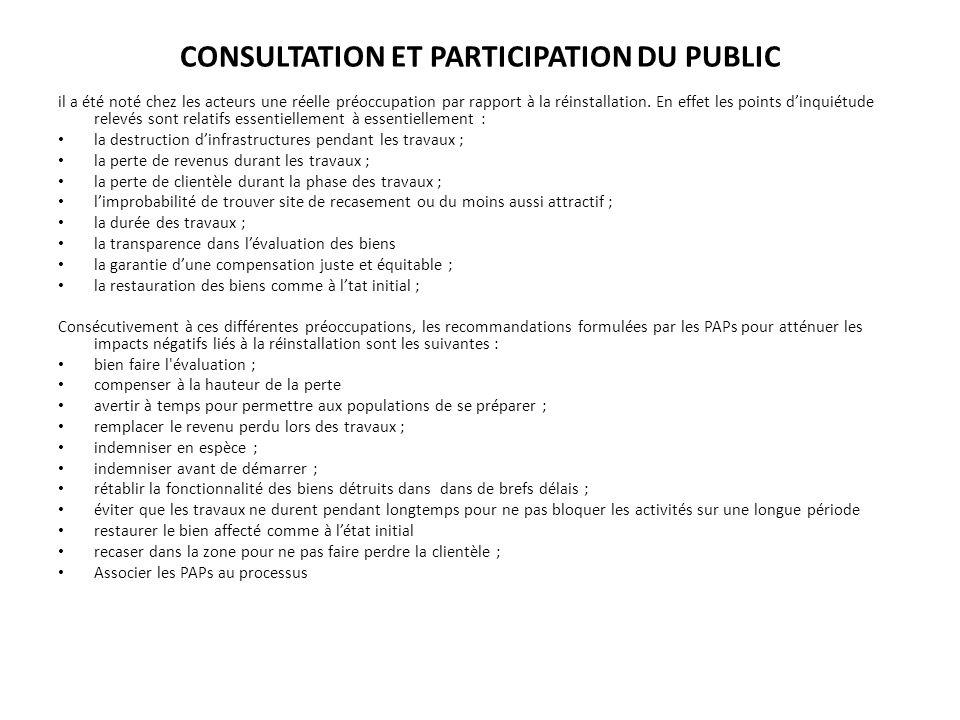 CONSULTATION ET PARTICIPATION DU PUBLIC