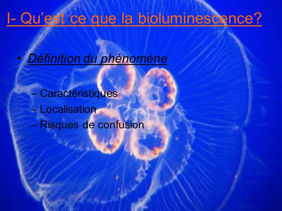 I- Qu'est ce que la bioluminescence