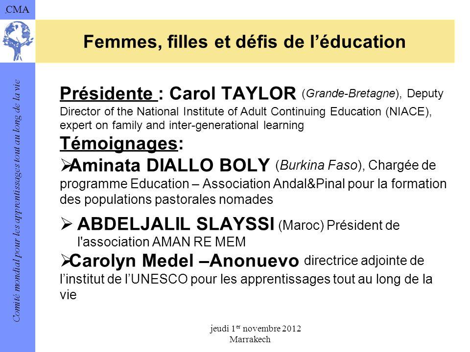 Femmes, filles et défis de l'éducation