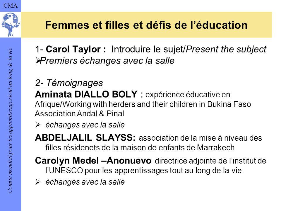 Femmes et filles et défis de l'éducation