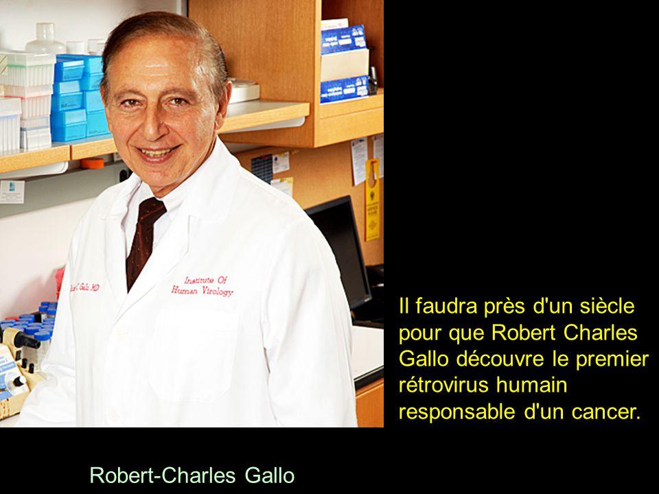 Il faudra près d un siècle pour que Robert Charles Gallo découvre le premier rétrovirus humain responsable d un cancer.