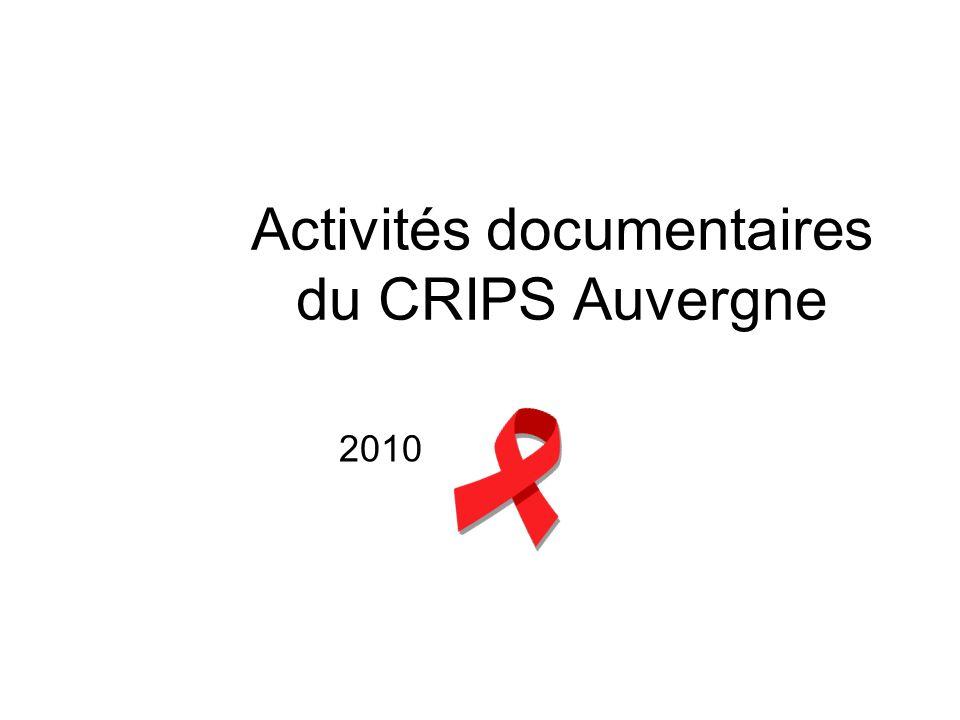 Activités documentaires du CRIPS Auvergne