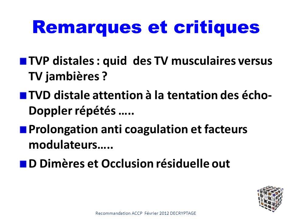 Remarques et critiques
