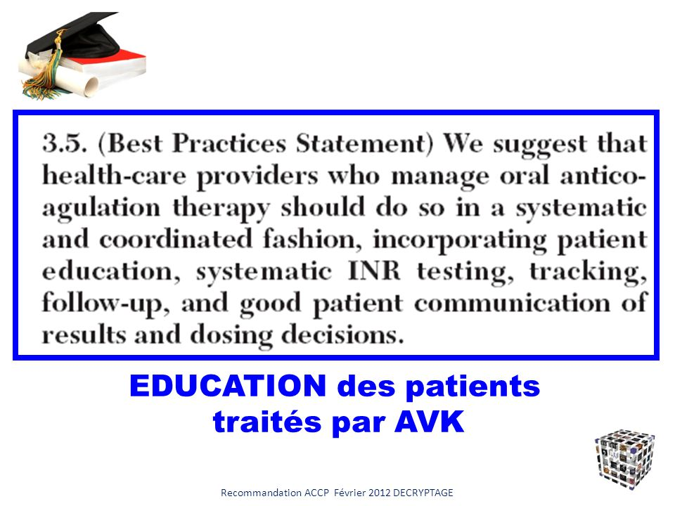 EDUCATION des patients