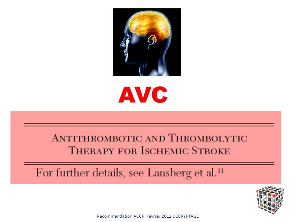 Recommandation ACCP Février 2012 DECRYPTAGE