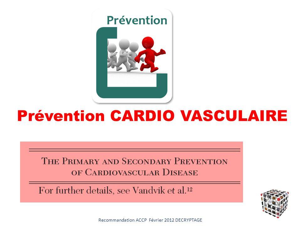 Prévention CARDIO VASCULAIRE