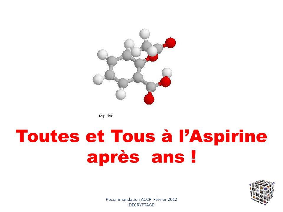 Toutes et Tous à l'Aspirine après ans !