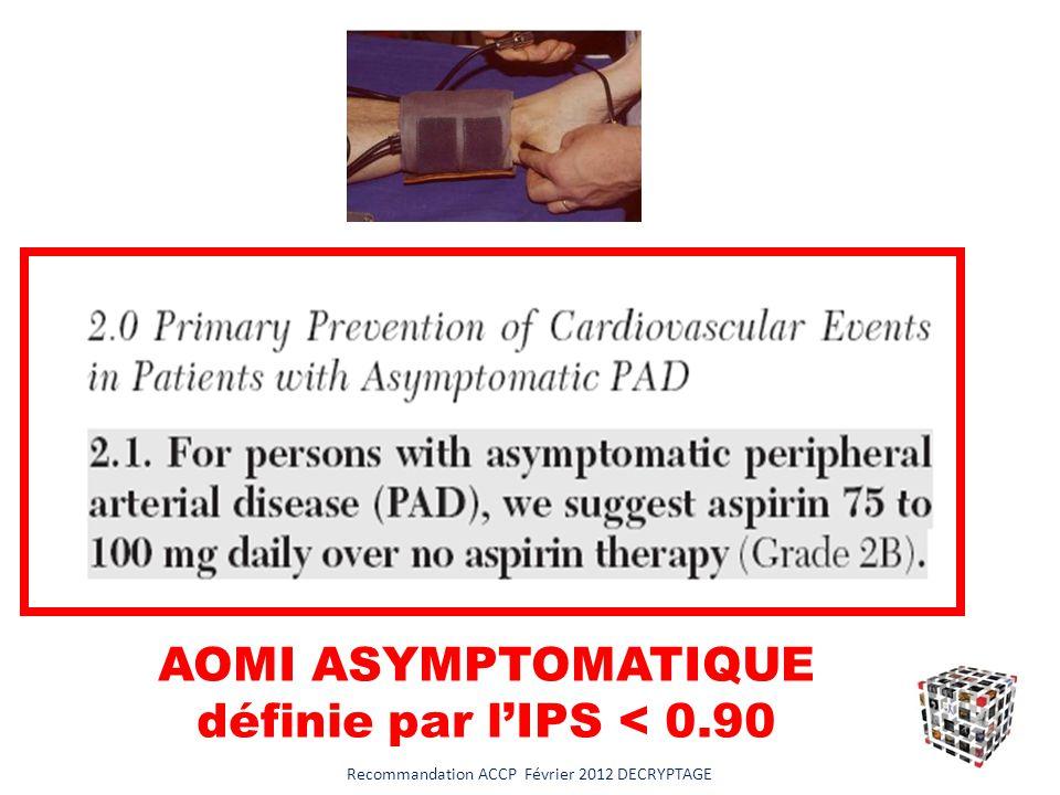 AOMI ASYMPTOMATIQUE définie par l'IPS < 0.90