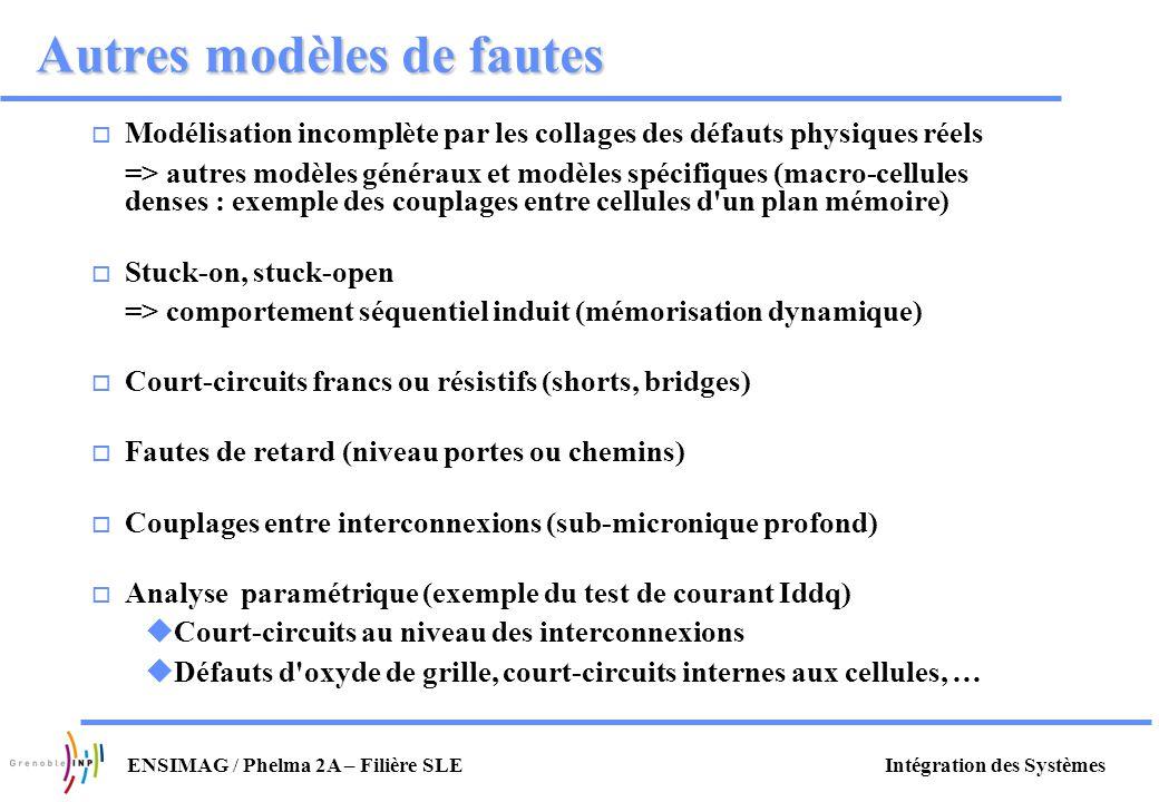 Autres modèles de fautes