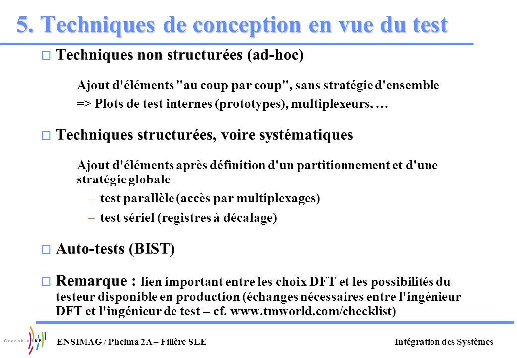 5. Techniques de conception en vue du test