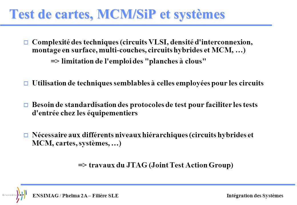 Test de cartes, MCM/SiP et systèmes