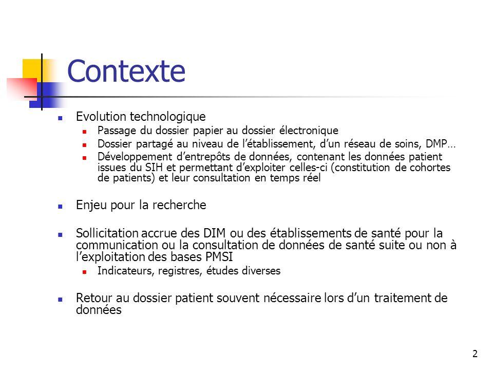 Contexte Evolution technologique Enjeu pour la recherche